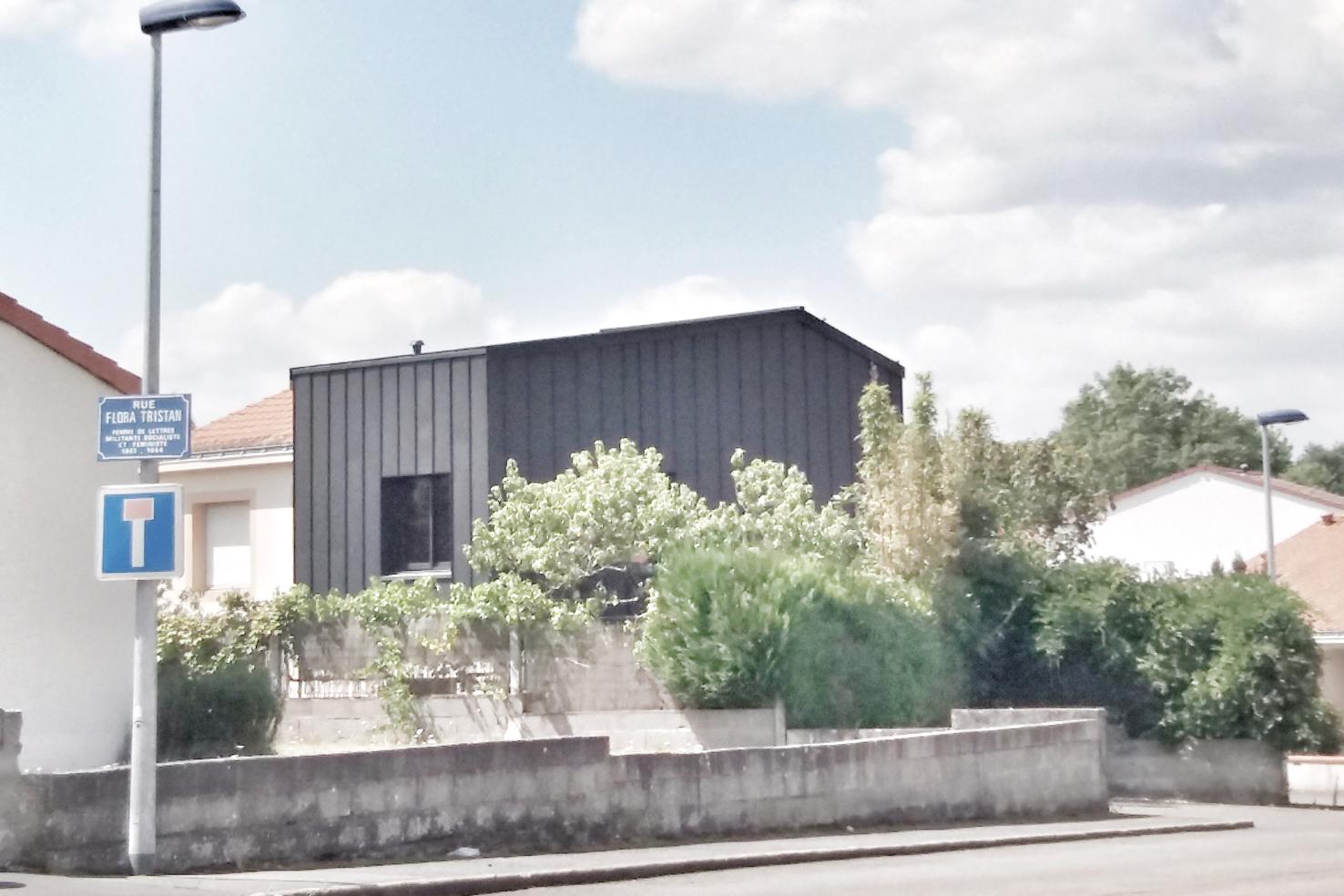 extension bois zinc parpaing 01 Nantes