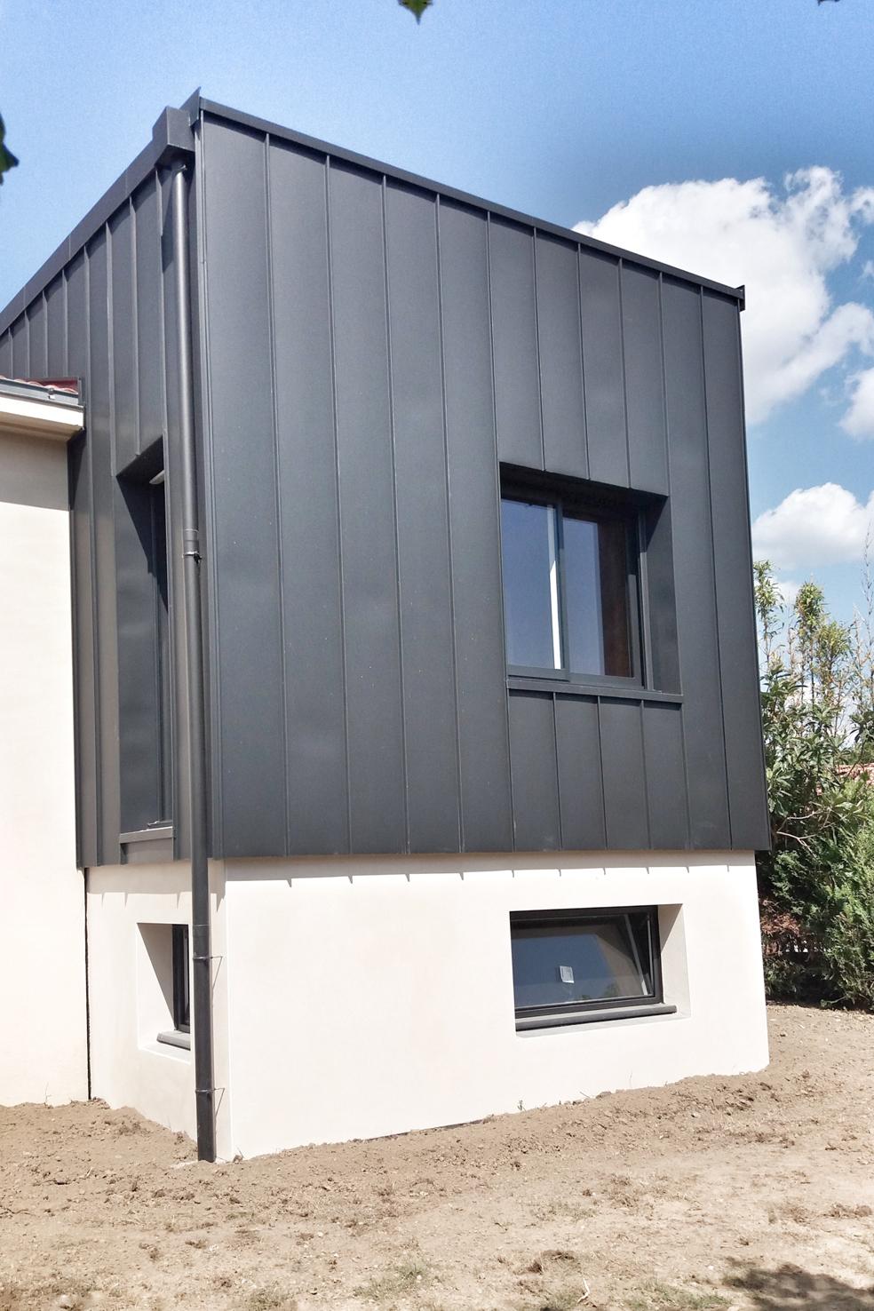 extension bois zinc parpaing  02 nantes